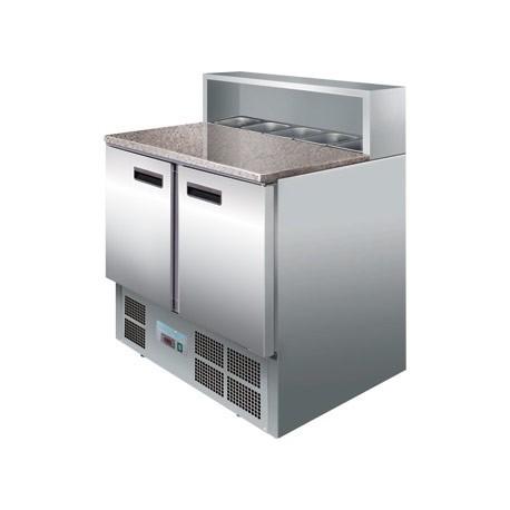 Mostrador refrigerado Polar de preparados para pizzas de 2 puertas