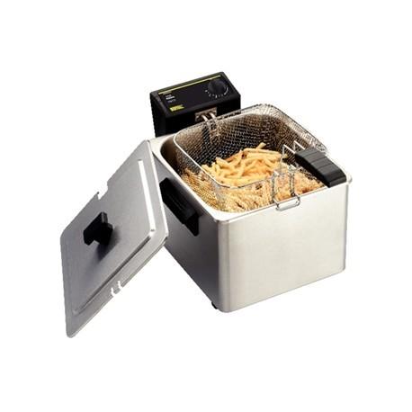 Freidora eléctrica individual Buffalo de 8 litros