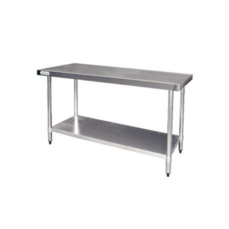 Mesa de preparados de acero inoxidable Vogue 1200 x 600mm