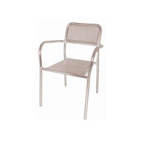 Pack de 4 sillas apilables de aluminio Bolero