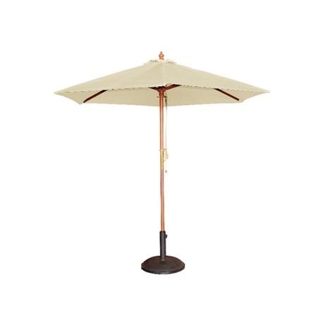 Sombrilla redonda de color crema Bolero de 3 m. de diámetro