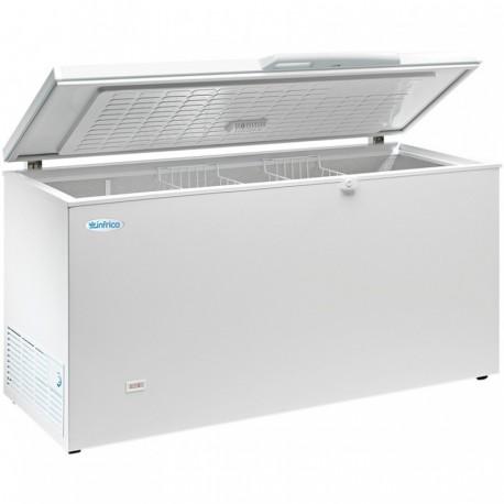 Arcón congelador de 337 litros con cuba interior de aluminio y tapa abatible