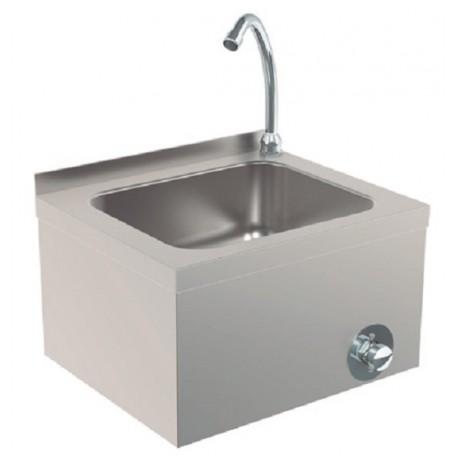 Lavamanos con pulsador de rodilla de 400 x 330 x 230 mm.