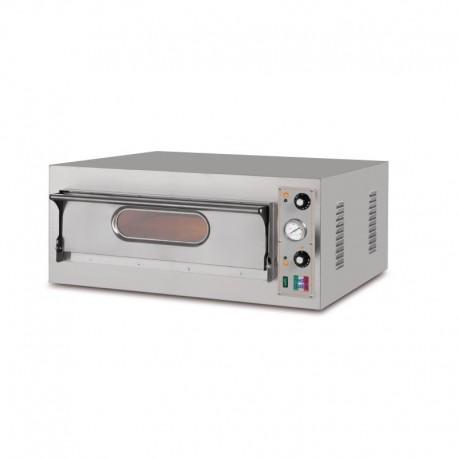 Horno eléctrico para 4 pizzas de 980 x 930 x 410 mm.