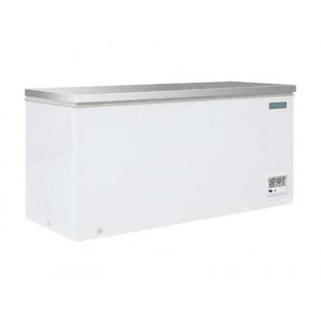 Arcón congelador Polar, 516 Litros, tapa acero inoxidable