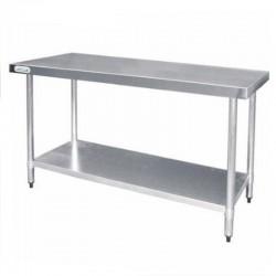 Mesa de trabajo de acero inoxidable 1800 x 800, con estante