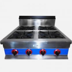 Cocina a gas 4 fuegos de sobremesa