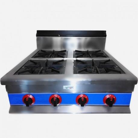 Cocina a gas de 4 fuegos de sobremesa