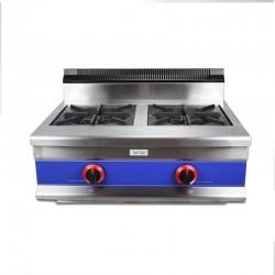 Cocina a gas 2 fuegos de sobremesa, horizontal