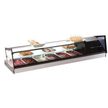 Vitrina refrigerada de sobremesa 6 bandejas Sayl Modelo cube VCB6