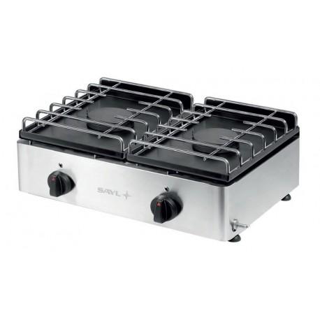 Cocina a gas 2 fuegos fondo 400mm Sayl Modelo P60F2
