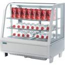 Expositor refrigerado Polar de color blanco con frontal de vidrio curvo