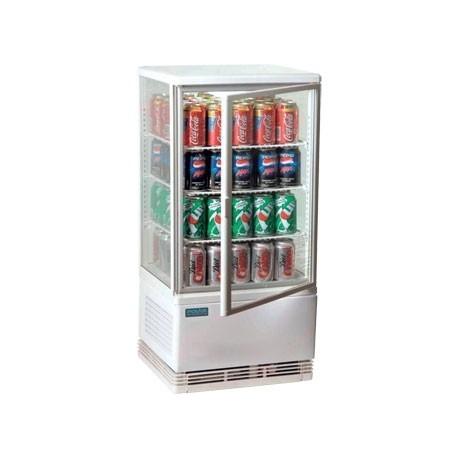 Vitrina refrigerada Polar de color blanco - 68 litros de capacidad