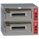 Horno eléctrico en acero inoxidable de doble cámara para 12 pizzas de 330 mm. de diámetro