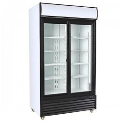 Armario refrigerado expositor 2 puertas correderas 1000 litros. CSD1000S