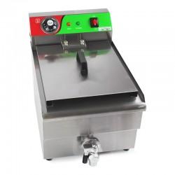 Freidora industrial eléctrica 10 litros con grifo