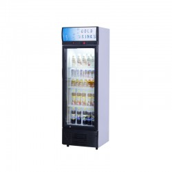 Vitrina refrigerada vertical puerta batiente, 280 litros